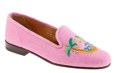 Stubbs & Wootton for J.Crew  Classic Linen Slippers