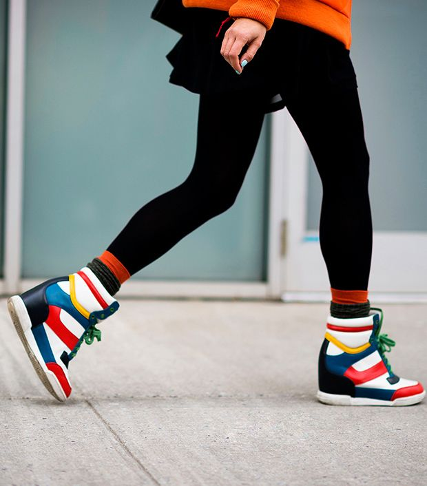 """<p>Style Note: Put some pep into your step with colourful wedge sneakers.</p>  <p>Source: <a href=""""http://le-21eme.com"""" target=""""_blank"""" title=""""Le 21eme"""">Le 21eme</a></p>"""