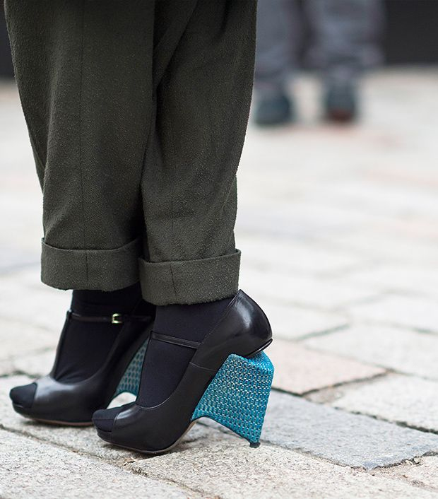"""<p>Style note: Update your look with an offbeat heel.</p>  <p>Source: <a href=""""http://le-21eme.com"""" target=""""_blank"""" title=""""Le 21eme"""">Le 21eme</a></p>"""