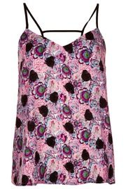 Topshop Panther Print Strappy Cami