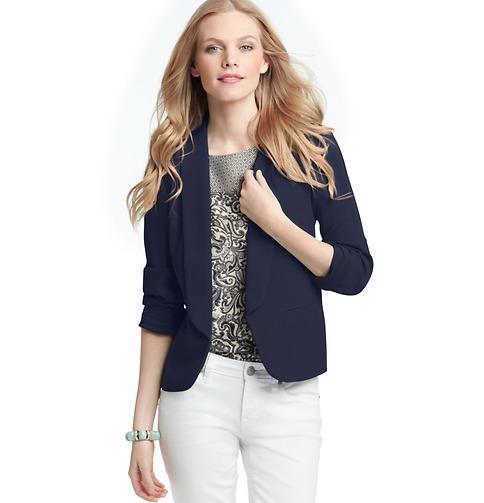 LOFT  Shawl Collar Jacket in Drapey Crepe