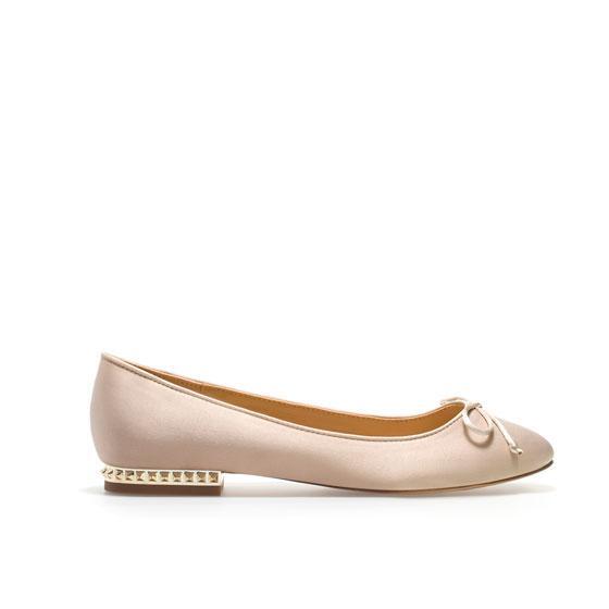 Zara  Basic High Heel Ballerina Flat