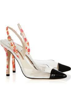 Sophia Webster Sophia Webster Daria Leather and PVC Slingback Heels