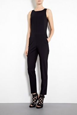 DKNY Stretch Wool Sleeveless Jumpsuit