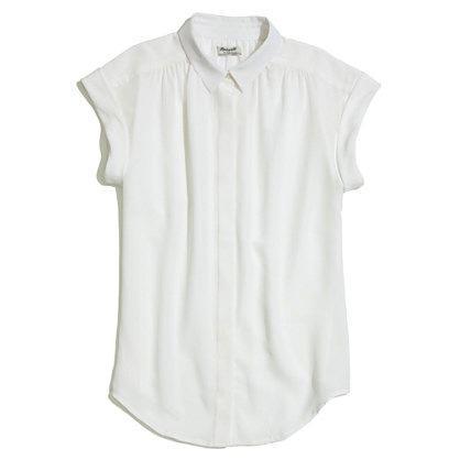 Madewell  Silk Roll-Sleeve Top
