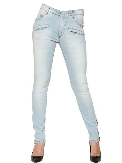 Pierre Balmain  High Waist Super Skinny Denim Jeans