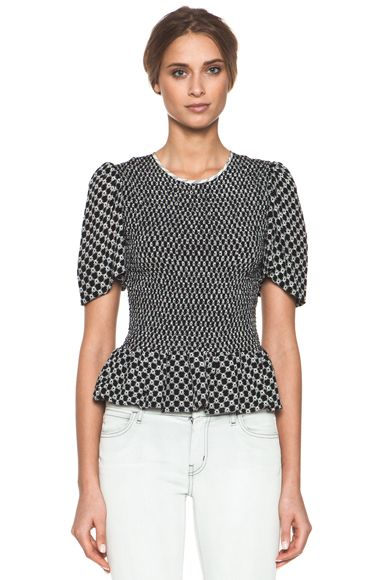 Isabel Marant  Megan Diamond Silk Crepe Top