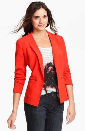 Trouve Zip Pocket Blazer