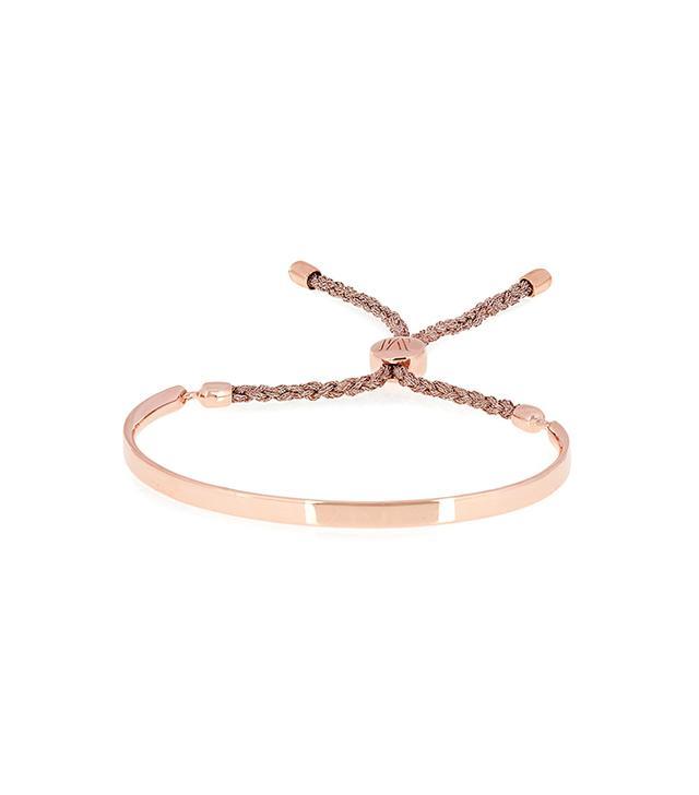 Monica Vinader Fiji Rose Gold-Plated Friendship Bracelet