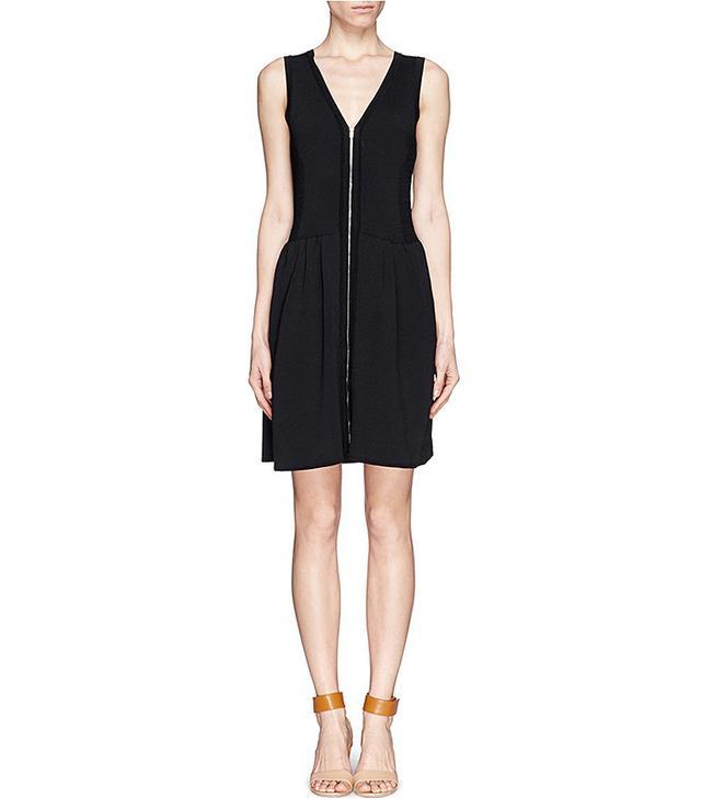 Sandro ZIp-Front Knit Dress