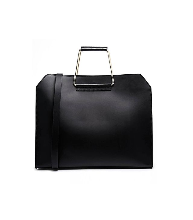 ASOS Leather Bag With Metal Handles