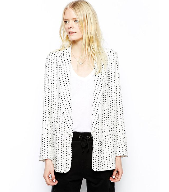 Just Female Dot Relaxed Blazer