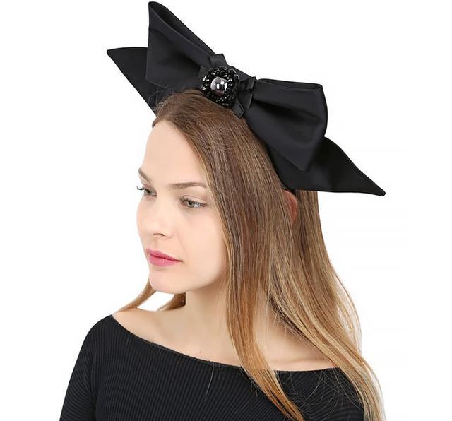 Kreisi Couture Oversized Silk Satin Bow Headband