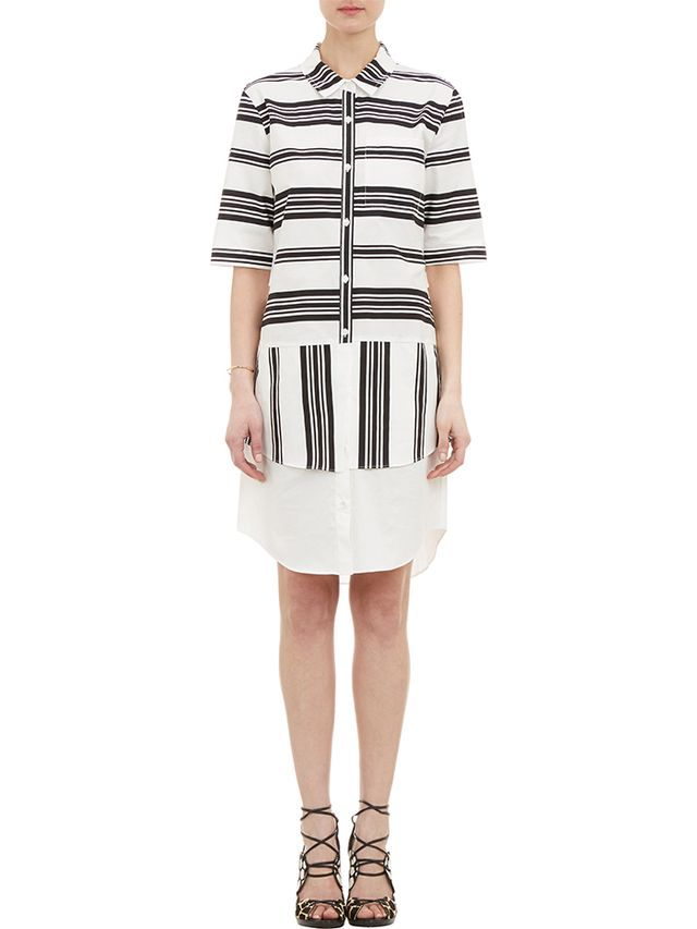 10 Crosby Derek Lam Mixed-Stripe Shirtdress