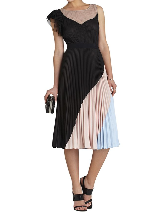 BCBG Maxazria Ciara Colour-Blocked Dress