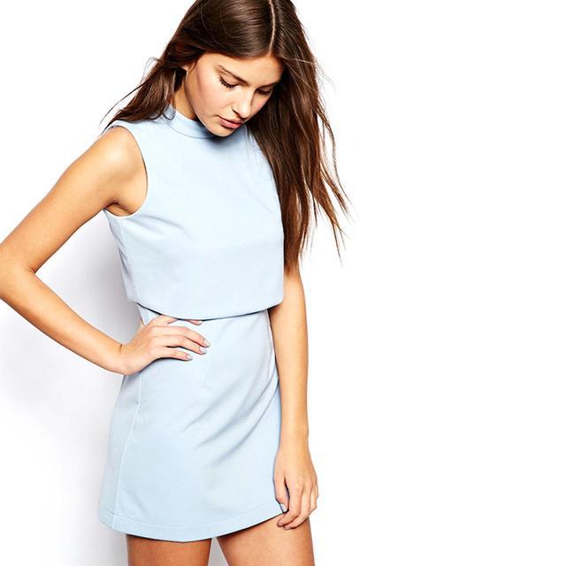ASOS Lavish Alice Cropped Mini Dress
