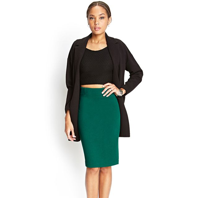 Forever 21 Textured Knit Pencil Skirt