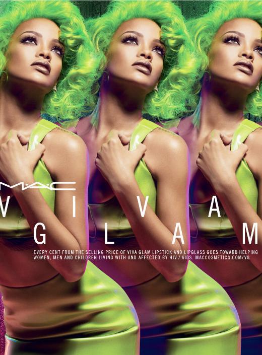Rihanna Dons Neon Green Hair For New MAC Ads