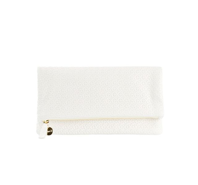 Clare V. Rattan Fold-Over Clutch