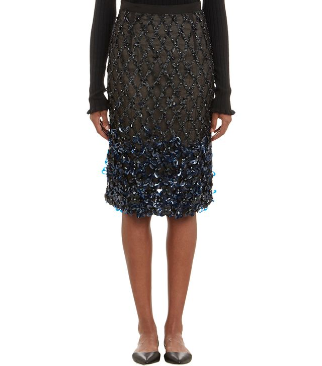 Erdem Embellished Pencil Skirt