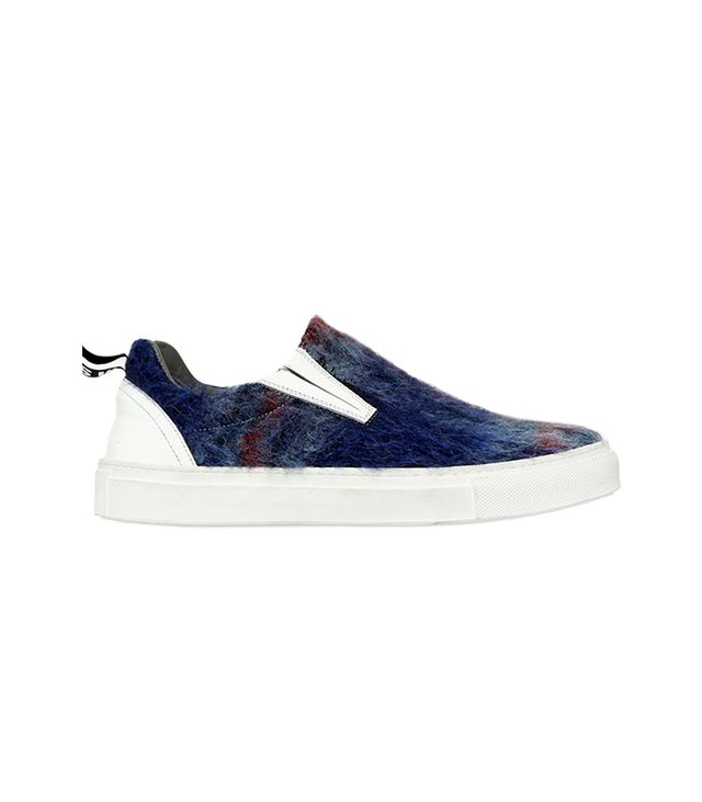 MSGM 20MM Brushed Wool Slip-On Sneakers