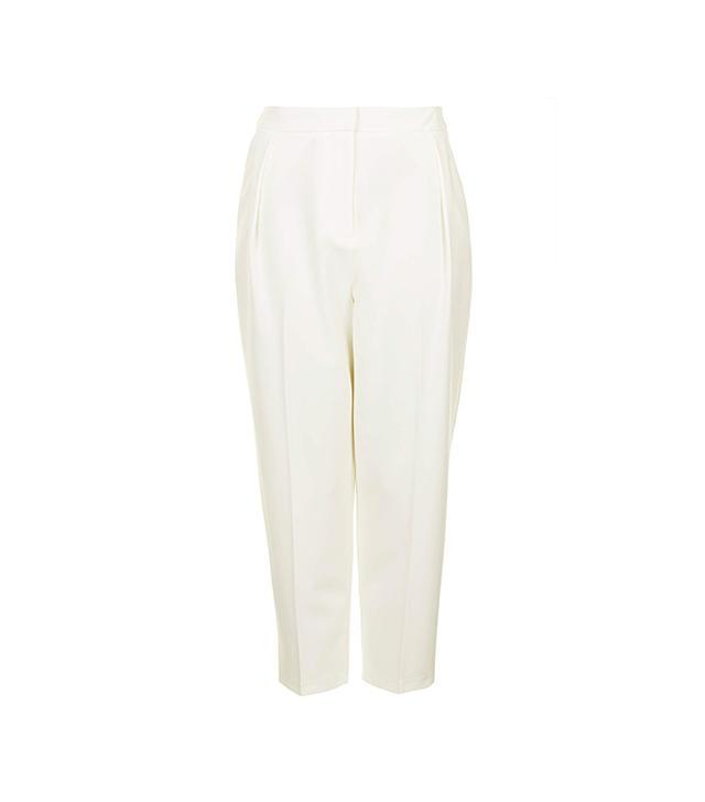 Topshop Cropped Peg Leg Trousers