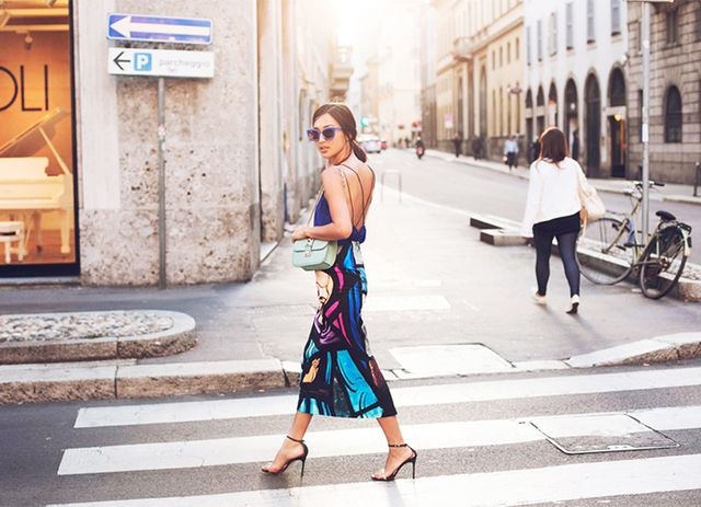 Outfit Idea 3: Silky Camisole + Statement Skirt