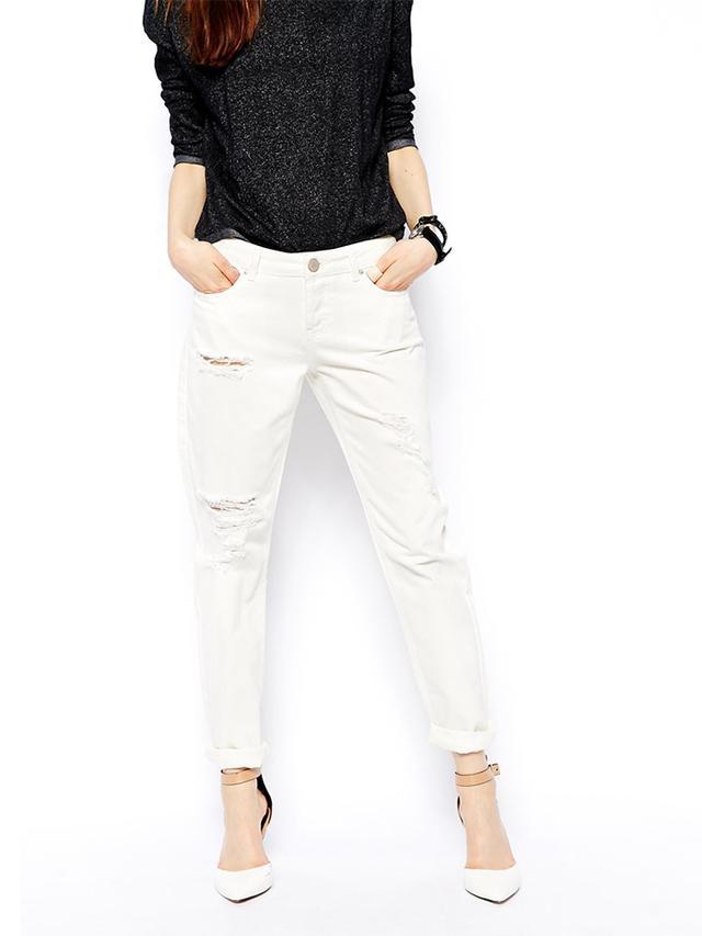 ASOS Brady Low Rise Slim Boyfriend Jeans With Rips