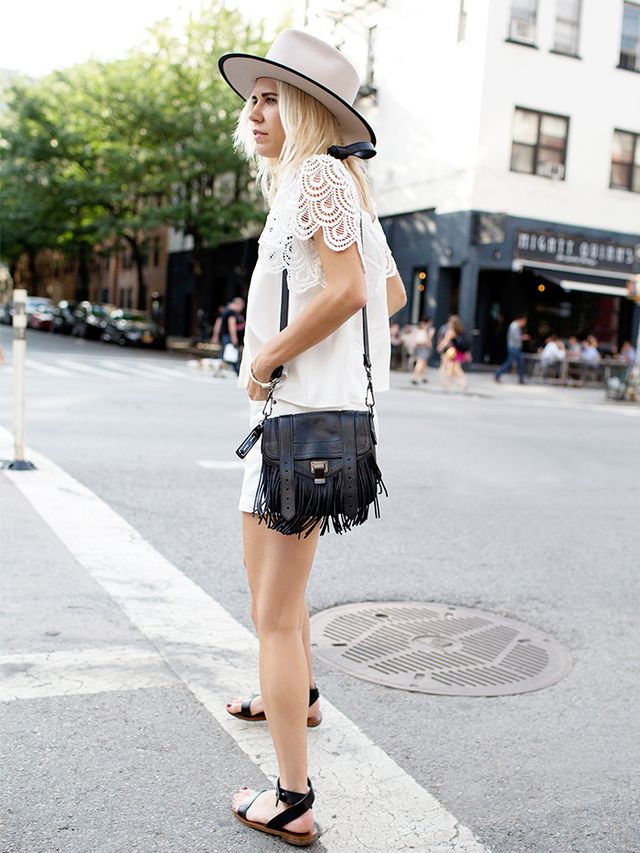 Outfit Idea 10: Lace Top + Shorts