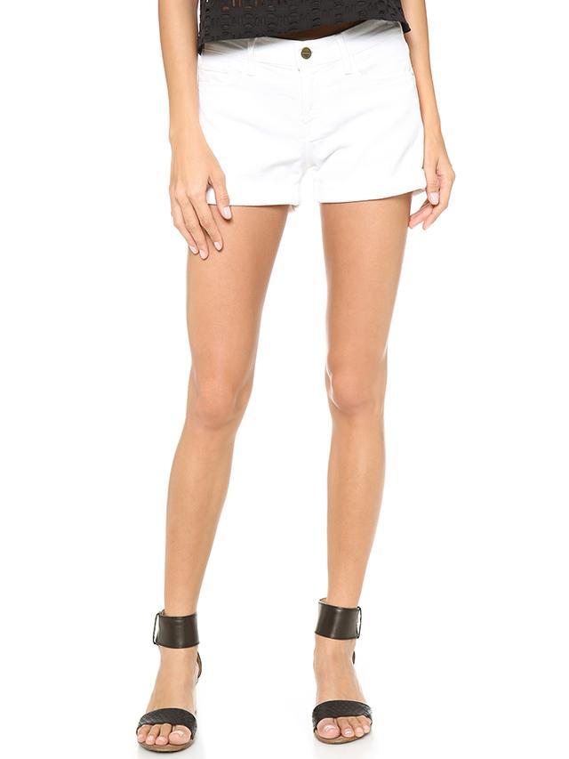 FRAME Le Rolled Cutoff Shorts