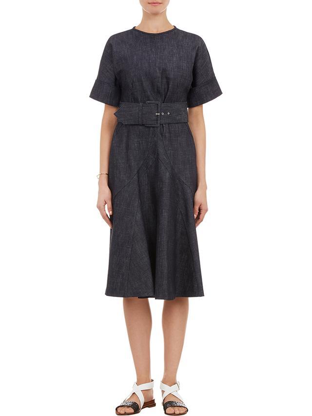 Derek Lam Denim Belted Dress