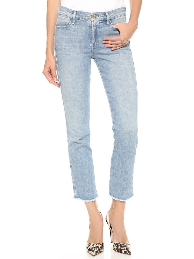 Frame Denim Le High Raw Edge Straight Jeans