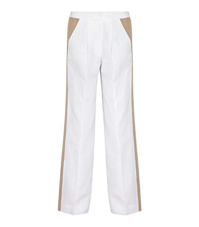 J. Crew Collection Cotton And Linen-Blend Wide-Leg Pants