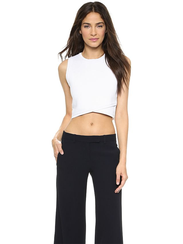 A.L.C. Nat Reversible Crop Top in White