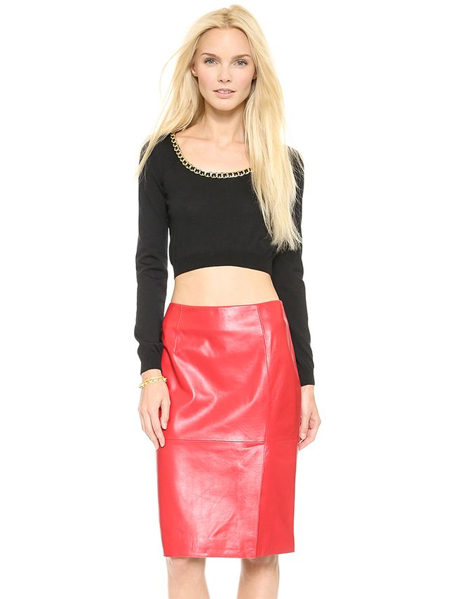 Moschino Cropped Sweater in Black
