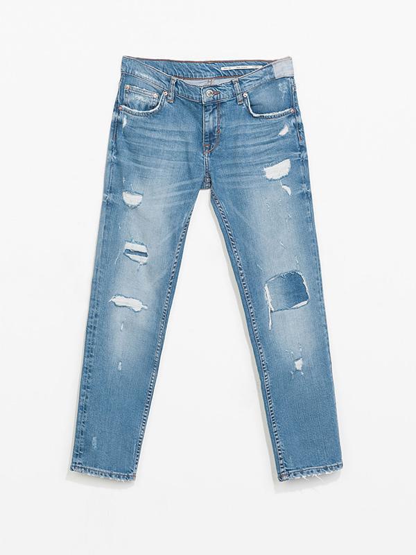 Zara Flax Fit Medium Rise Jeans