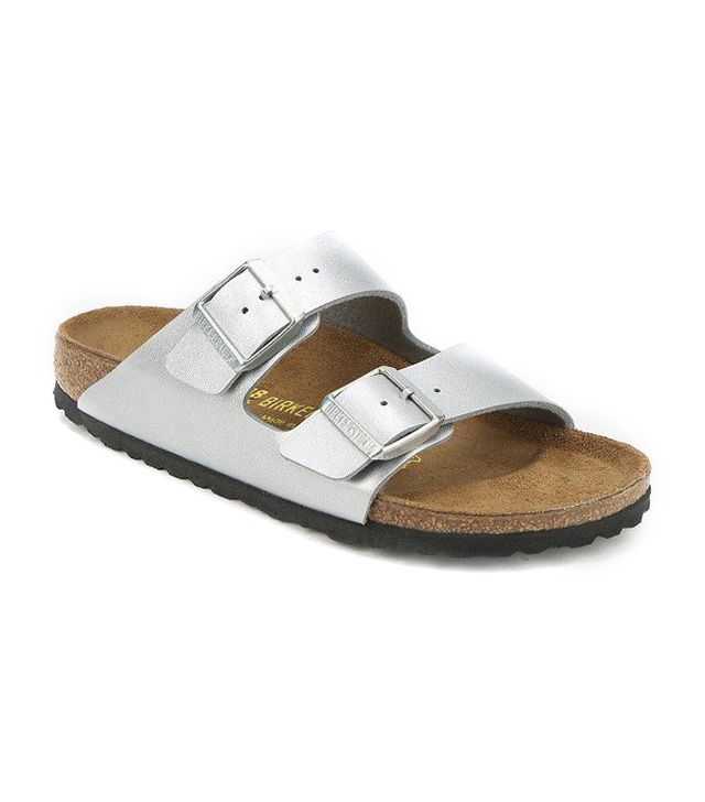 Birkenstocks,J.Crew Metallic Arizona Sandals