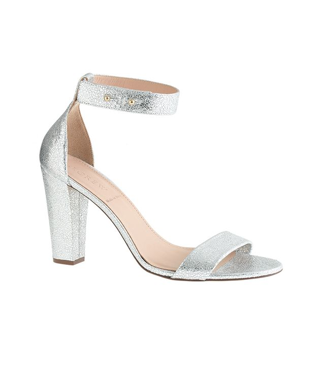 J.Crew Lanie Crackled Metallic Sandals
