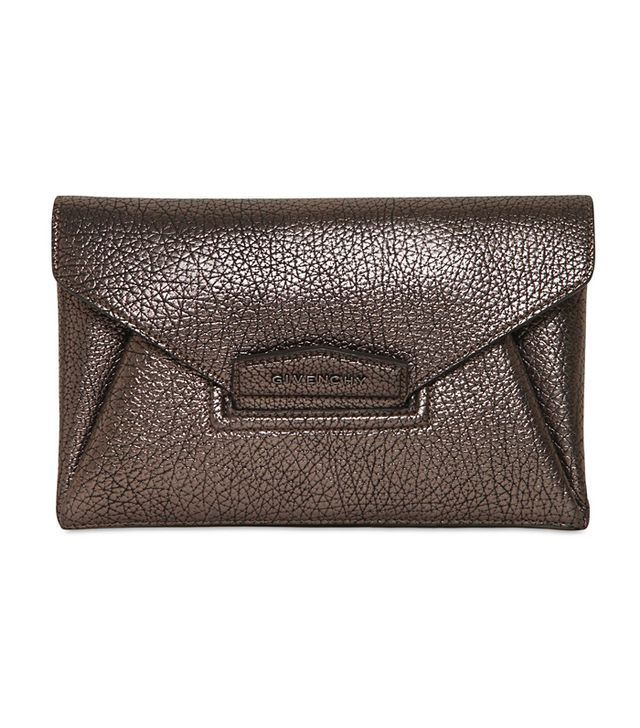 Givenchy Antigona Small Metallic Leather Clutch