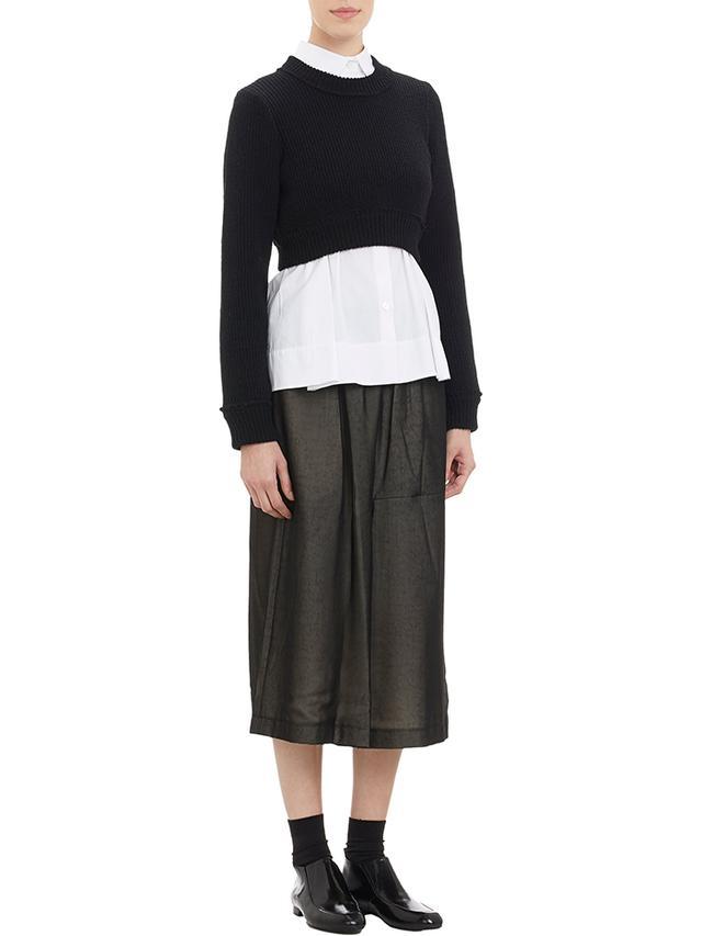 Commes des Garcons Double-Layer Wide-Leg Skirt Pants