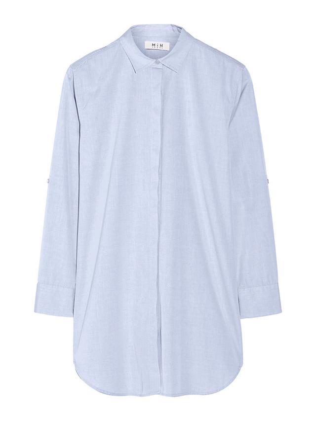 MiH Jeans Oversized Cotton-Poplin Shirt