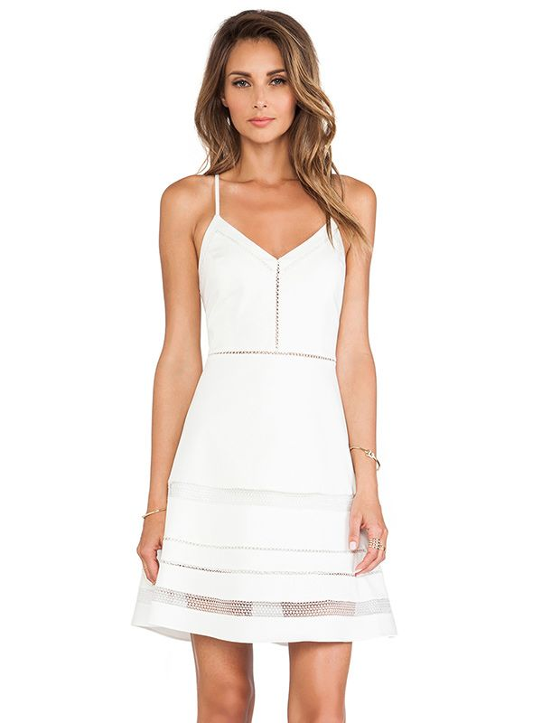Parker Whitefield Fit & Flare Dress