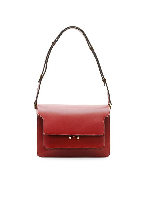 Marni Flat Top Leather Shoulder Bag