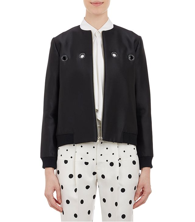 Wayne Cropped Bomber Jacket