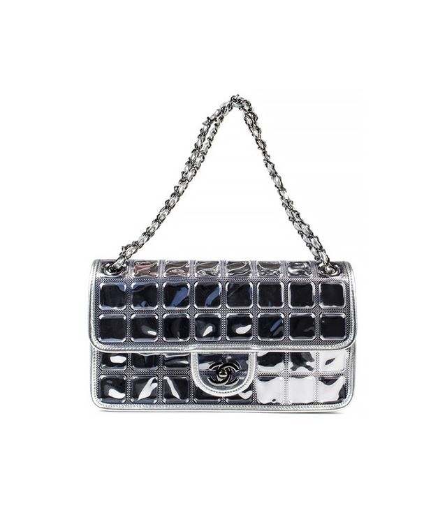 Chanel Metallic Ice Cube Runway Flap
