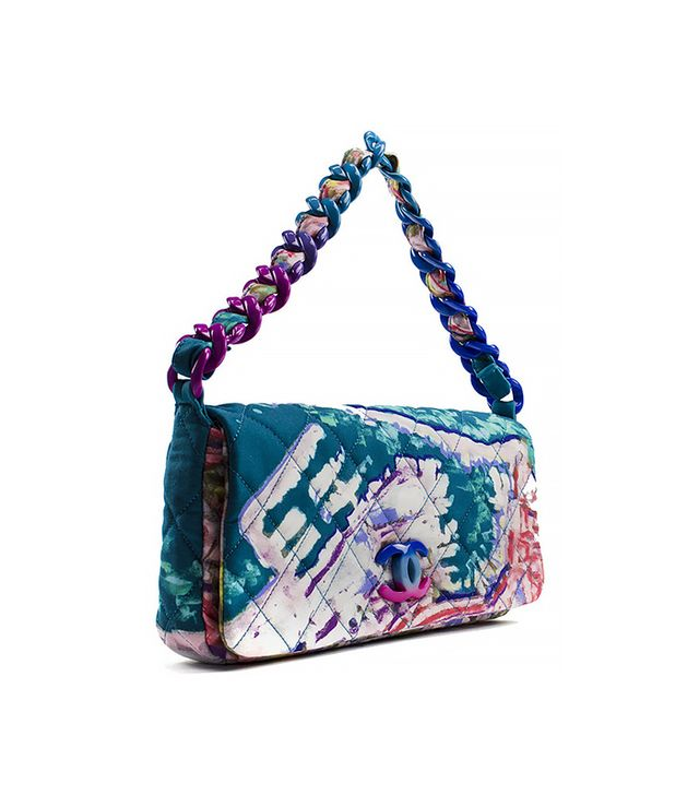 Chanel Multicolor Quilted Canvas Watercolor Pochette