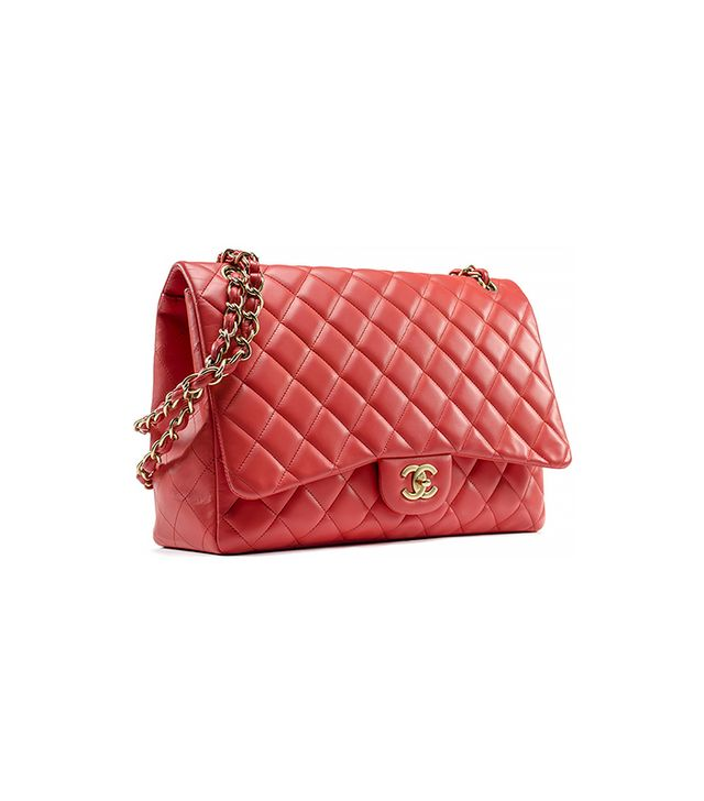 Chanel Coral Lambskin Single Maxi Flap