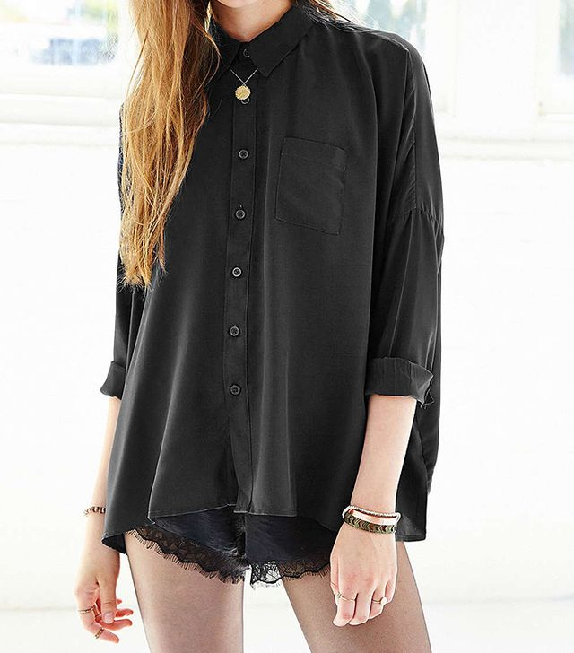 byCorpus Oversized Square Button-Down Shirt