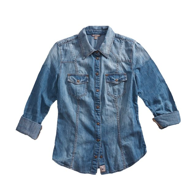 Slim-Fit Denim Shirt  Slim-Fit Denim Shirt