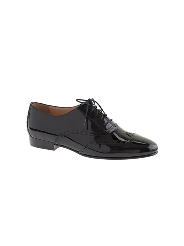 J.Crew Patent Wing-Tip Oxfords